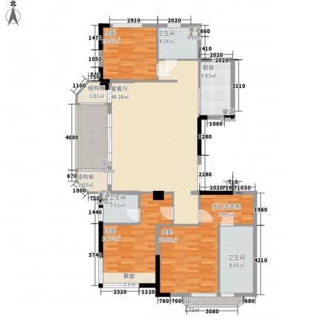 德信臻园3室1厅3卫1厨169.00㎡户型图