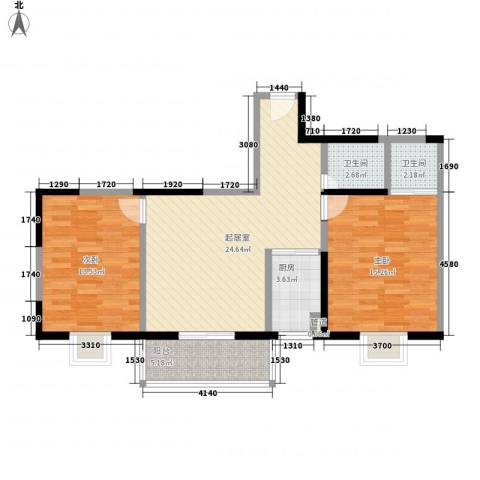 文景雅苑2室0厅2卫1厨96.00㎡户型图