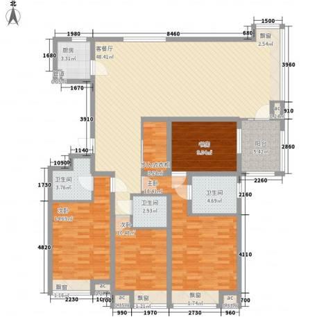 8哩岛4室1厅3卫1厨180.00㎡户型图