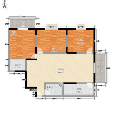 文景雅苑3室0厅2卫1厨151.00㎡户型图