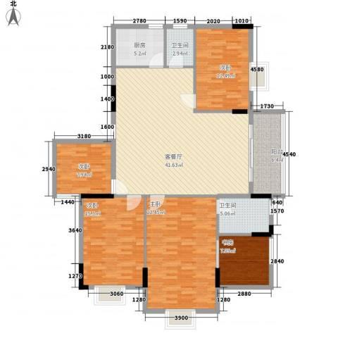 逸景雅轩5室1厅2卫1厨176.00㎡户型图