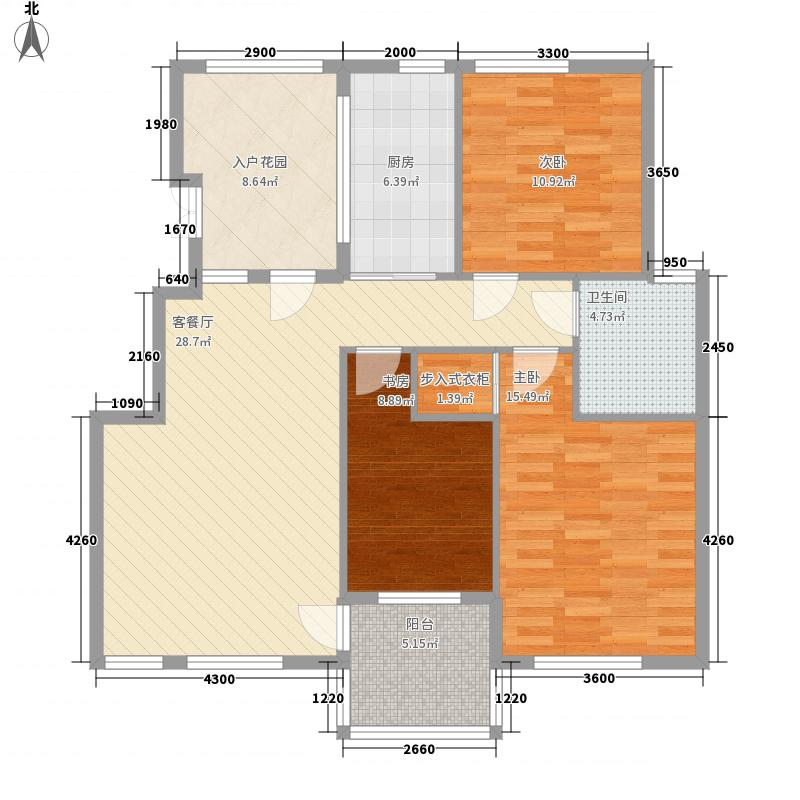 翰林壹品106.00㎡翰林壹品户型图户型3室2厅1卫1厨户型3室2厅1卫1厨