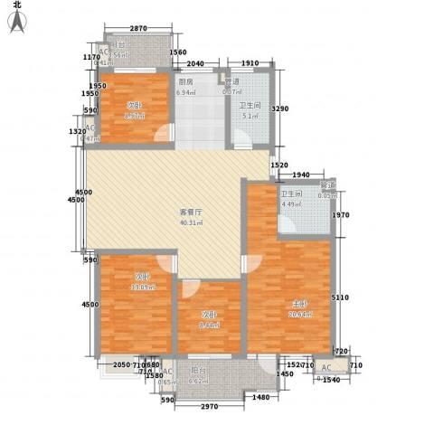 滨江庆和苑4室1厅2卫0厨129.00㎡户型图