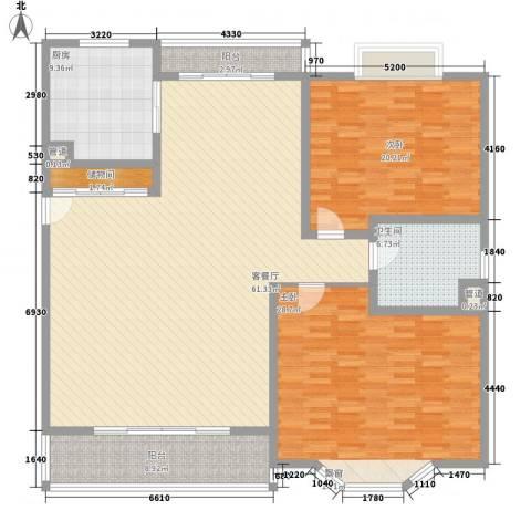 泰燕华庭2室1厅1卫1厨197.00㎡户型图
