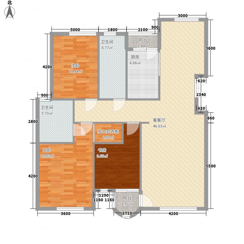 翰林壹品132.00㎡翰林壹品户型图户型3室2厅2卫1厨户型3室2厅2卫1厨