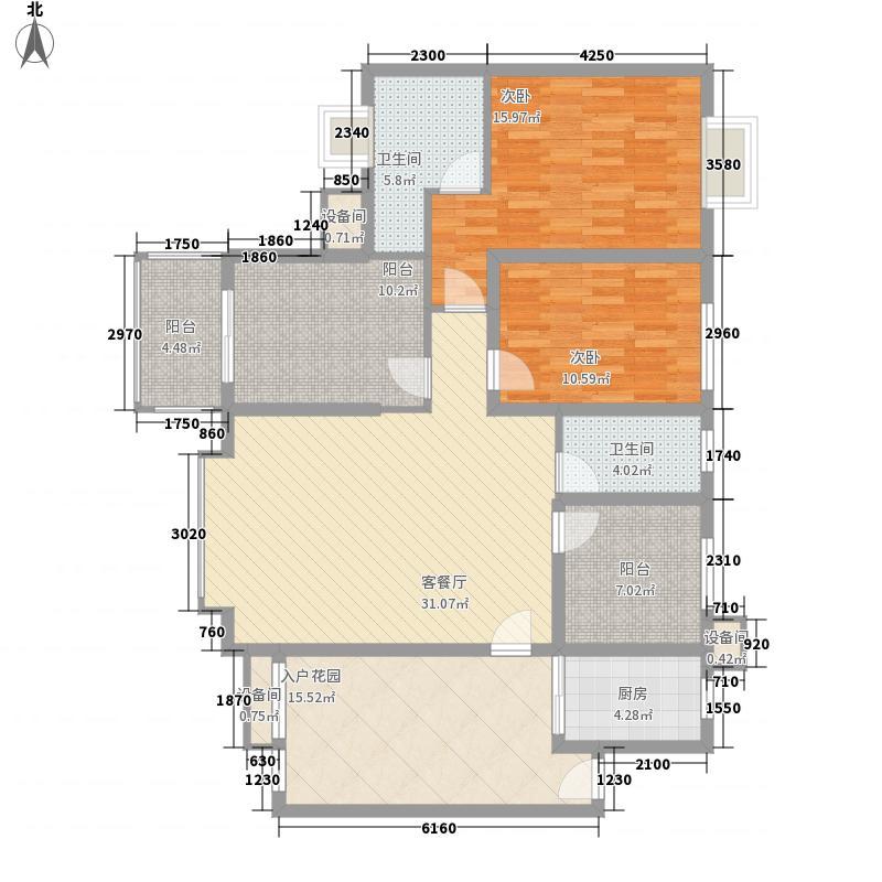 禹洲领海7号楼2-30层偶数层05、09单元户型3室1厅1卫1厨