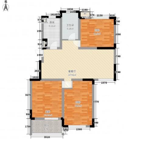 嘉顺花园3室1厅1卫1厨118.00㎡户型图