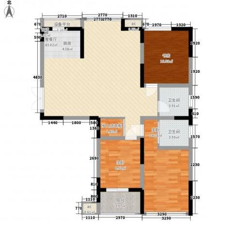 百合心苑3室1厅2卫0厨134.00㎡户型图