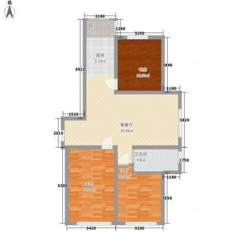 新星宇和邑3室1厅1卫0厨118.00㎡户型图