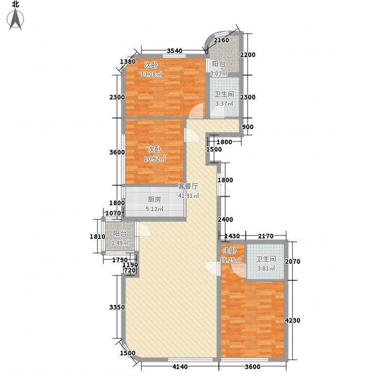 翰林壹品135.00㎡翰林壹品户型图户型3室2厅2卫1厨户型3室2厅2卫1厨
