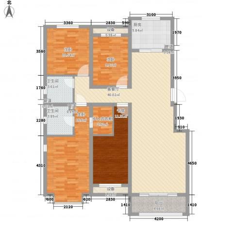 中基碧域4室1厅2卫1厨159.00㎡户型图