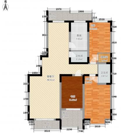 天赐园(和平区)3室1厅2卫1厨153.00㎡户型图