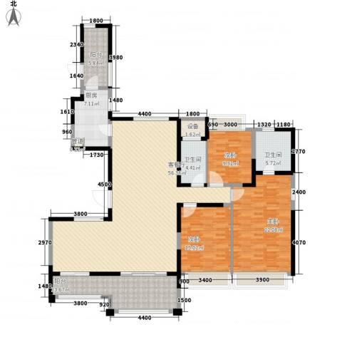 路劲天御3室1厅2卫1厨190.00㎡户型图