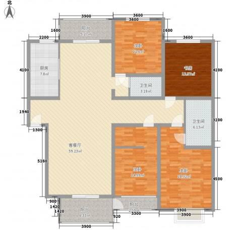 金玉良园4室1厅2卫1厨210.00㎡户型图