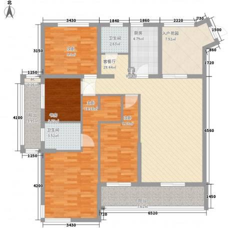 融汇江山4室1厅2卫1厨152.00㎡户型图