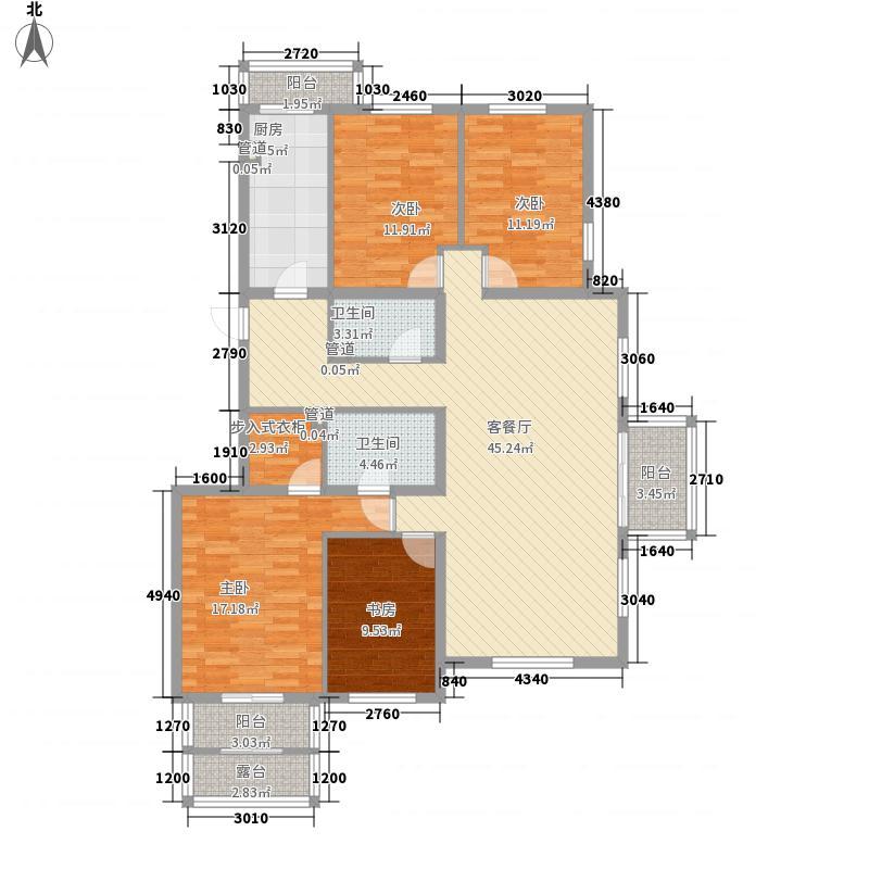 枫丹丽舍177.62㎡乙2首层户型4室2厅2卫1厨