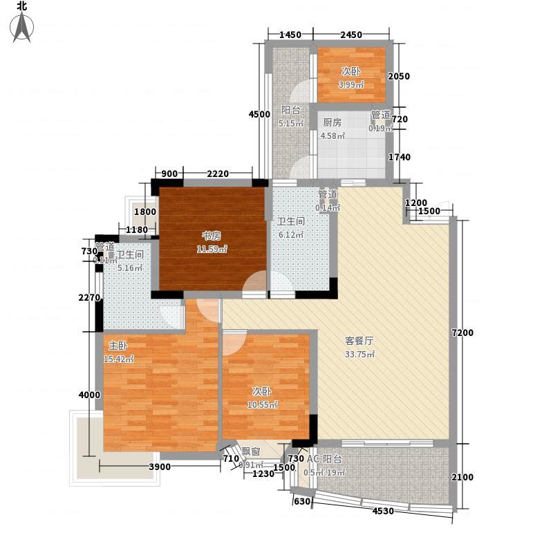 银海嘉怡花园136.09㎡银海嘉怡花园户型图4室2厅2卫1厨户型10室