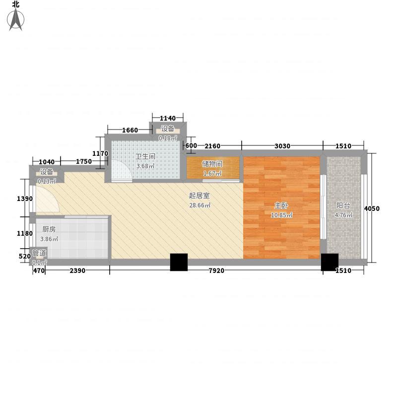 复地连城国际63.00㎡四期4-1、4-2号楼B1-1户型