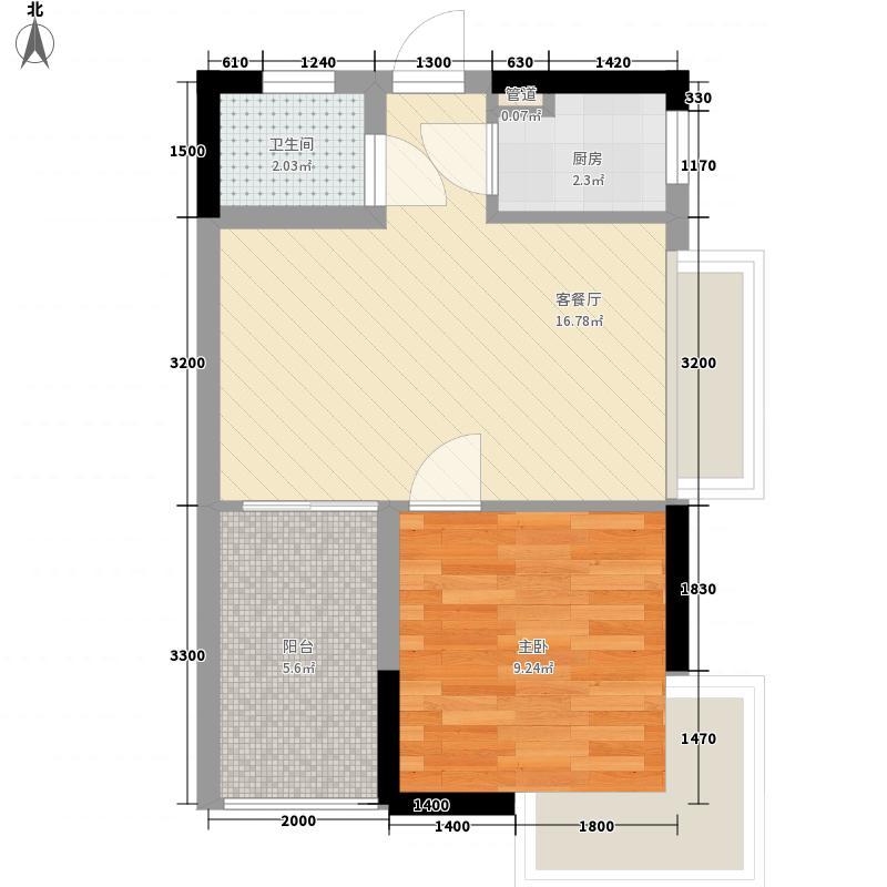 时代名轩50.75㎡时代名轩户型图13栋05单位标准层户型10室