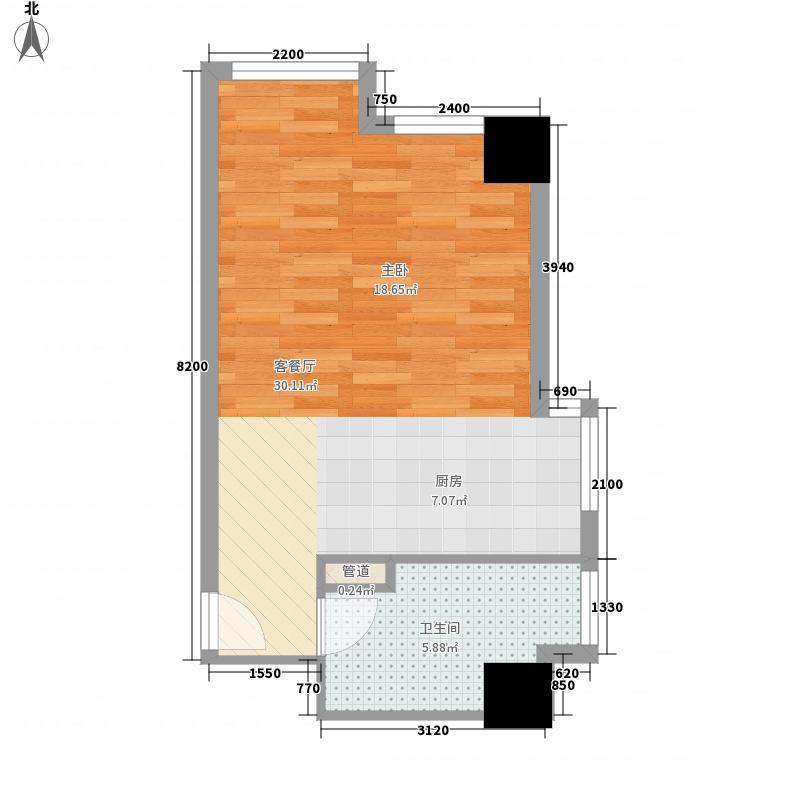 北一路万达广场55.01㎡北一路万达广场户型图2,3-D户型1室1厅1卫户型1室1厅1卫