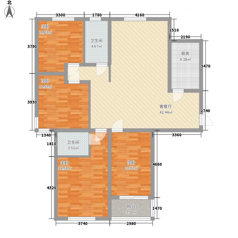 阳光天阶153.72㎡标准层E户型4室4厅4卫1厨