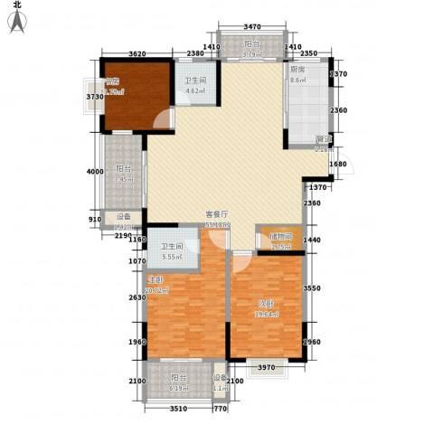 荣亨逸都3室1厅2卫1厨148.99㎡户型图