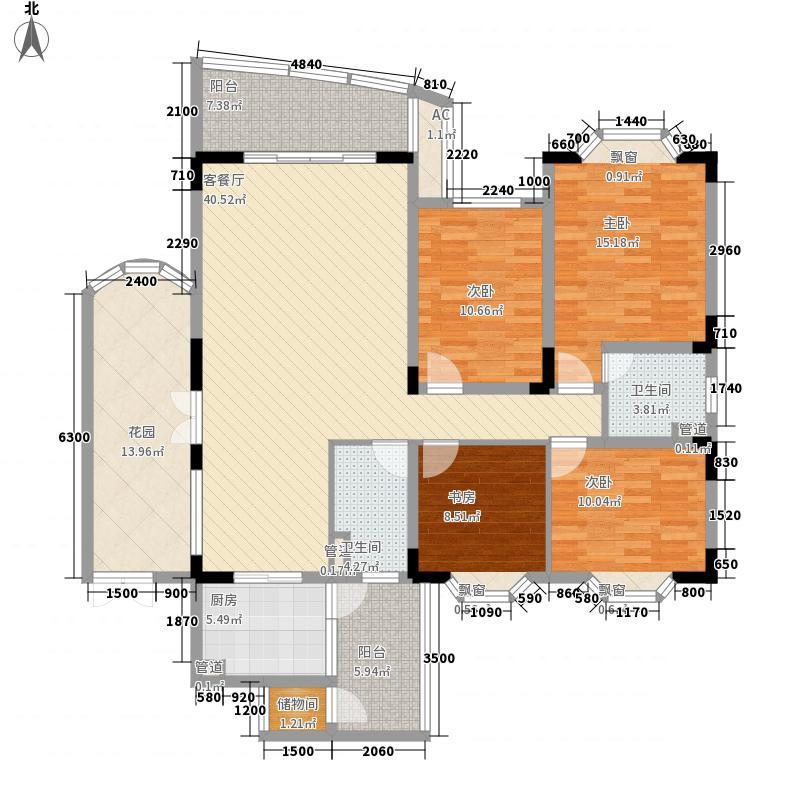 银海嘉怡花园146.69㎡银海嘉怡花园户型图4室2厅2卫1厨户型10室
