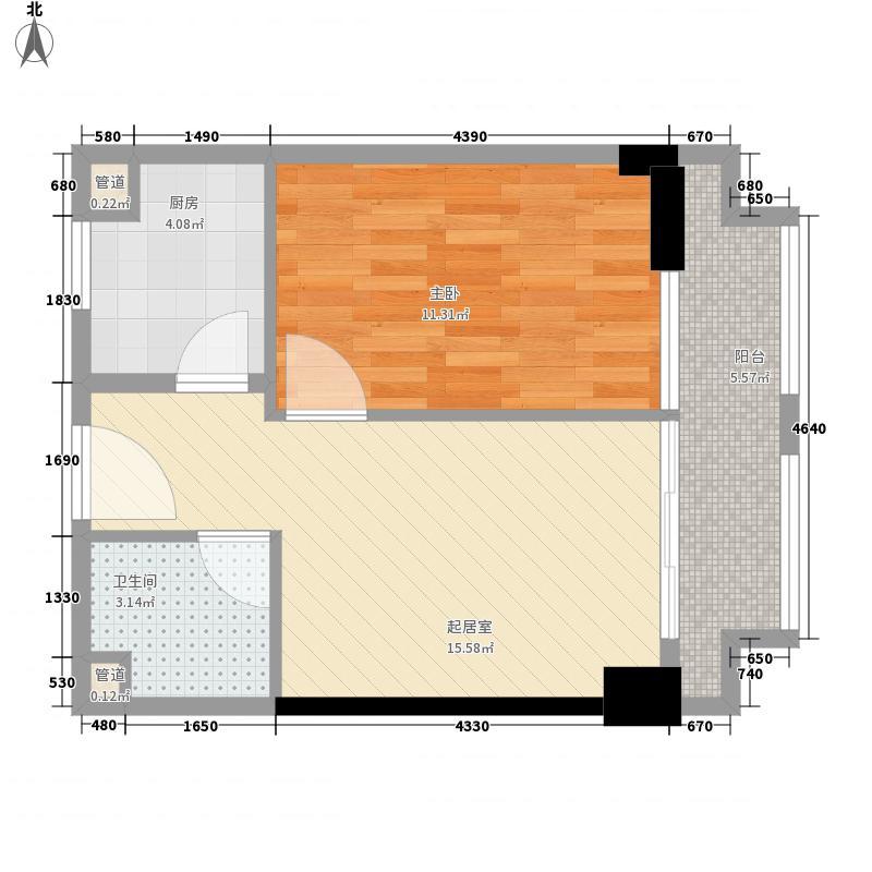 峰尚国际63.09㎡峰尚国际户型图B-a1-011室2厅1卫户型1室2厅1卫