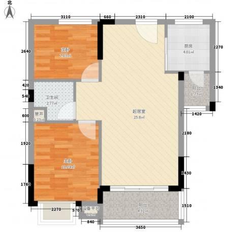 滨江豪园2室0厅1卫1厨81.00㎡户型图