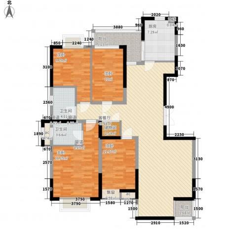 紫薇臻品4室1厅2卫1厨169.00㎡户型图