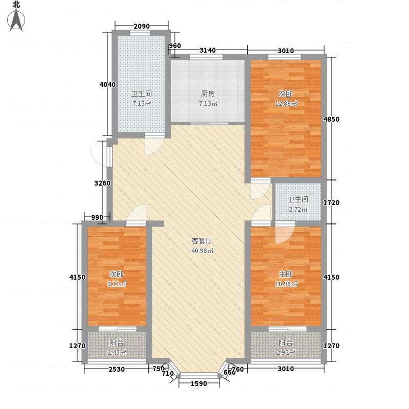 阳光城136.33㎡N户型3室2厅2卫1厨