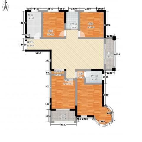 万福・君临天下4室1厅2卫1厨103.79㎡户型图