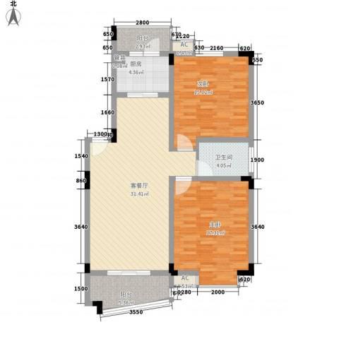 和一花园2室1厅1卫1厨100.00㎡户型图