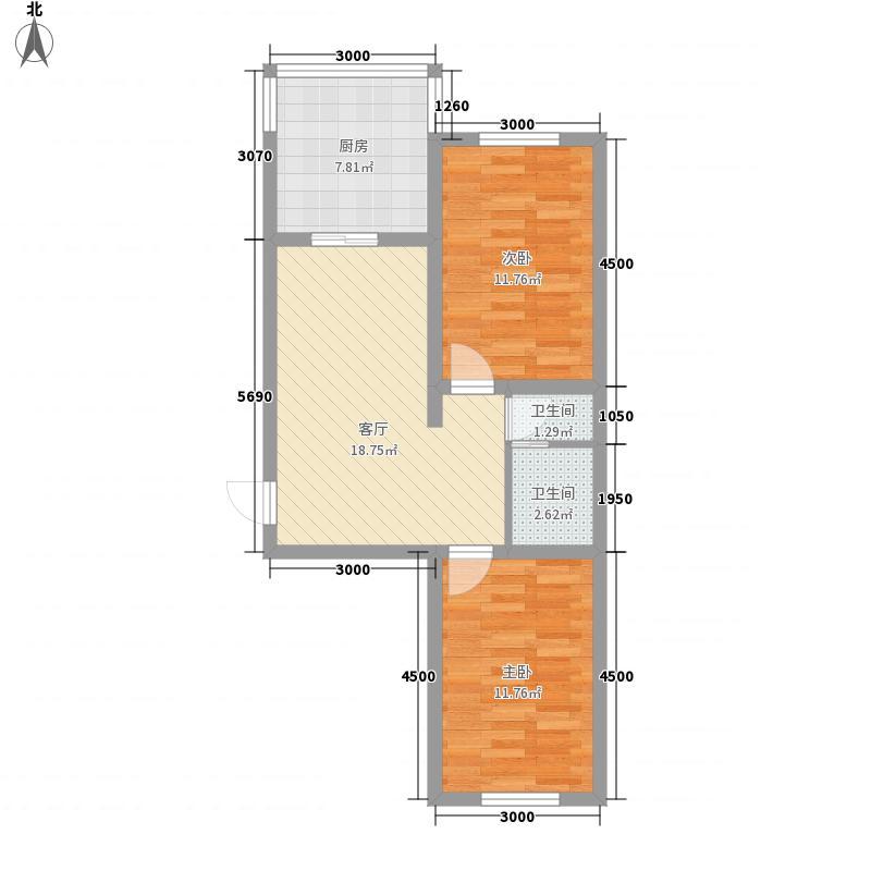 万和顺景79.55㎡万和顺景户型图2室2厅1卫户型10室