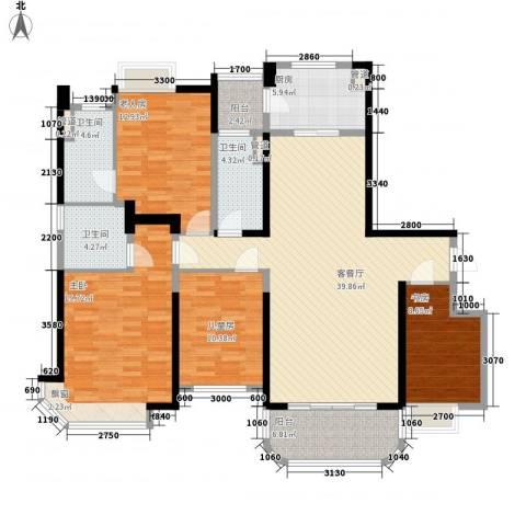 三明碧桂园4室1厅3卫1厨164.00㎡户型图