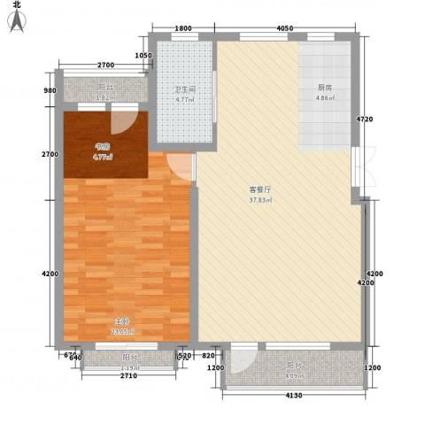 幸福E家五期1室1厅1卫0厨102.00㎡户型图