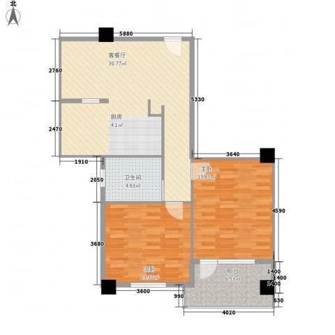 享域滨江2室1厅1卫0厨97.00㎡户型图