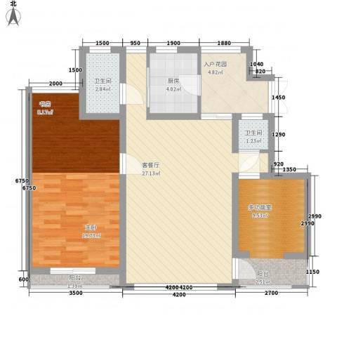 幸福E家五期1室1厅2卫1厨102.00㎡户型图
