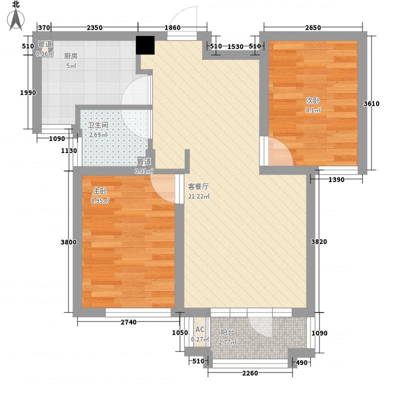 理想0769二期72.00㎡理想0769二期2室户型2室
