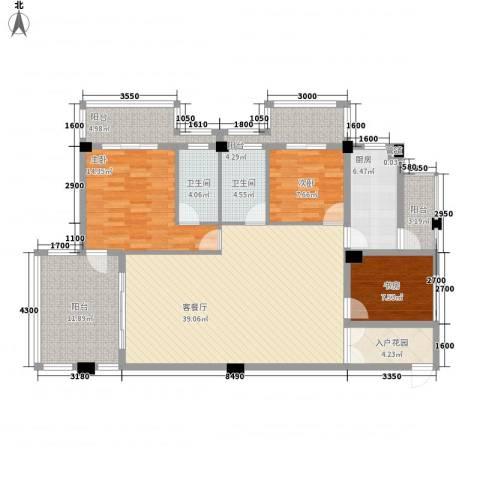 大�海・半山壹�3室1厅2卫1厨134.00㎡户型图