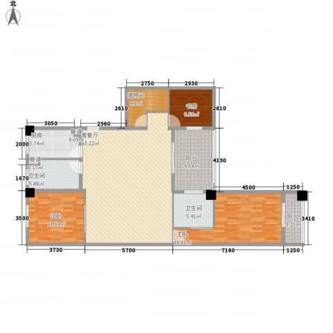 享域滨江3室1厅2卫1厨158.00㎡户型图