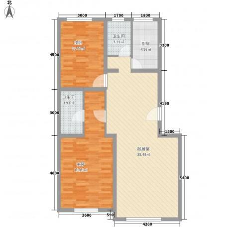 世纪嘉园2室0厅2卫1厨111.00㎡户型图