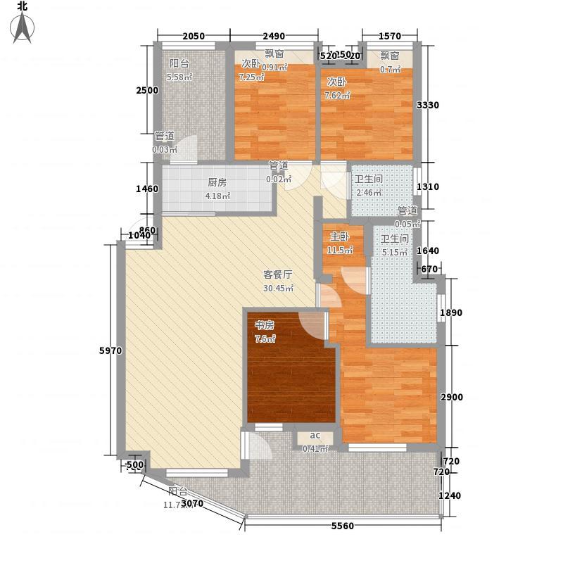 IN蓝庭135.00㎡户型4室
