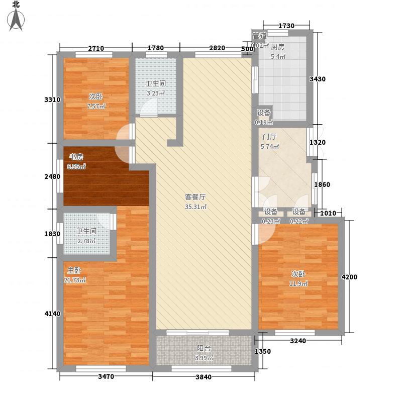 揽月豪庭143.43㎡揽月豪庭户型图F户型4室2厅2卫1厨户型4室2厅2卫1厨