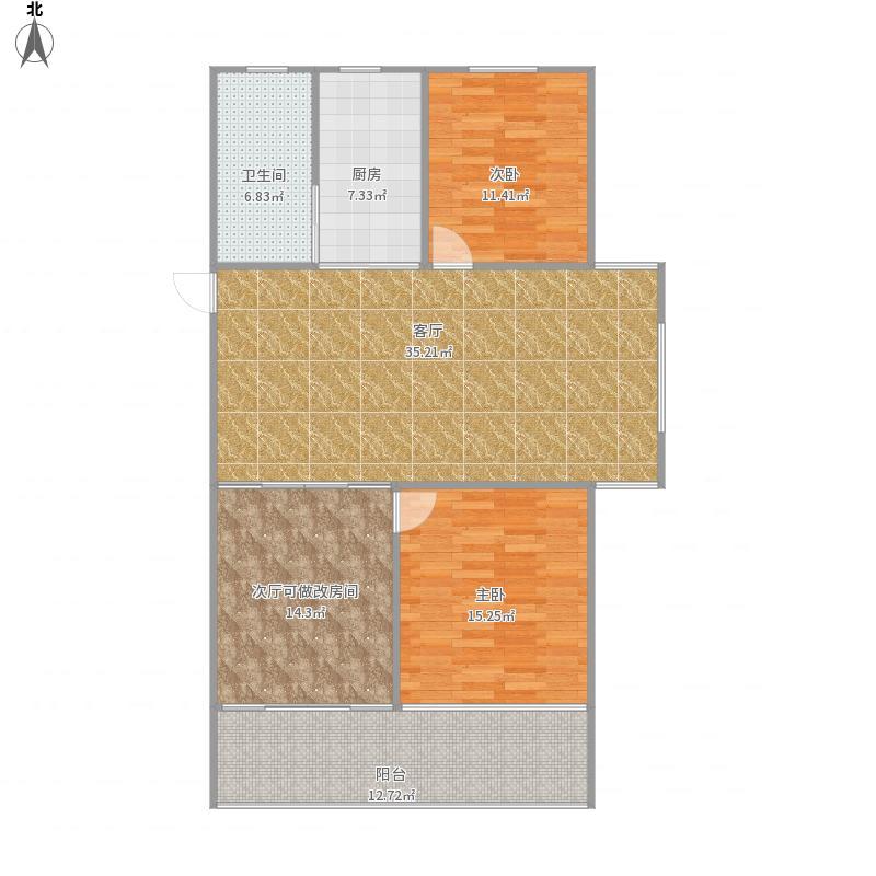 景德镇-四季春晖107户型-设计方案