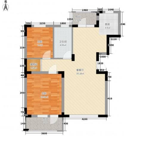 幸福E家五期2室1厅1卫0厨99.00㎡户型图