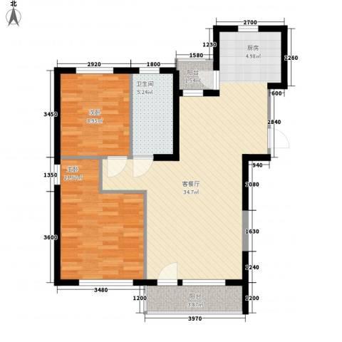 幸福E家五期2室1厅1卫0厨95.00㎡户型图