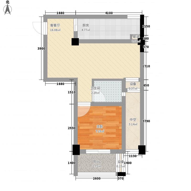 大富绿洲60.57㎡大富绿洲户型图12#07户型1室2厅1卫1厨户型1室2厅1卫1厨