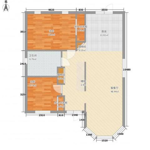 孔雀湖原乡国际假日基地2室1厅1卫0厨92.00㎡户型图