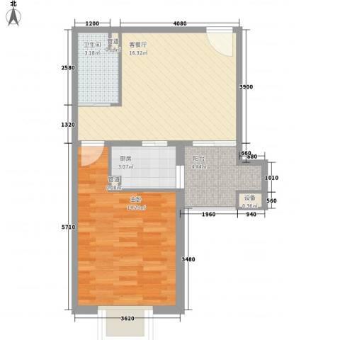 嘉禾一方1室1厅1卫1厨45.00㎡户型图